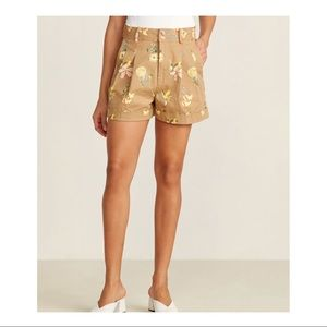 NWT Madewell Tropical Floral Sand Pleated Shorts